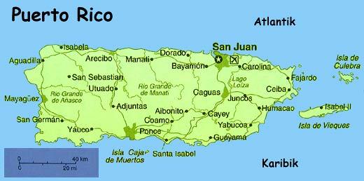 Puerto Rico Karte