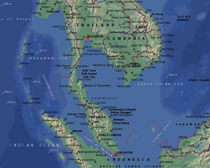 Inseln Thailand Karte Thailand Karte