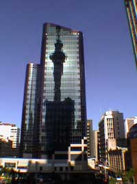 Skytower Reflektion Auckland, NZ